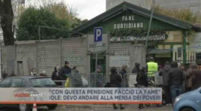 Nella città dell'accoglienza, pensionati elemosinano la spesa – VIDEO