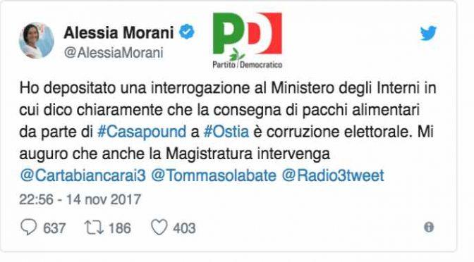PD denuncia CasaPound perché sfama 250 famiglie italiane