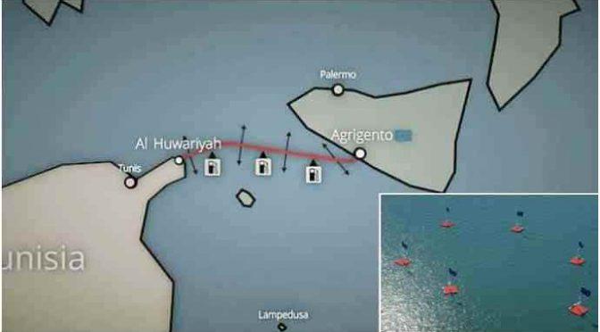 Un ponte di isolotti artificiali per facilitare migrazione Tunisini in Italia – FOTO