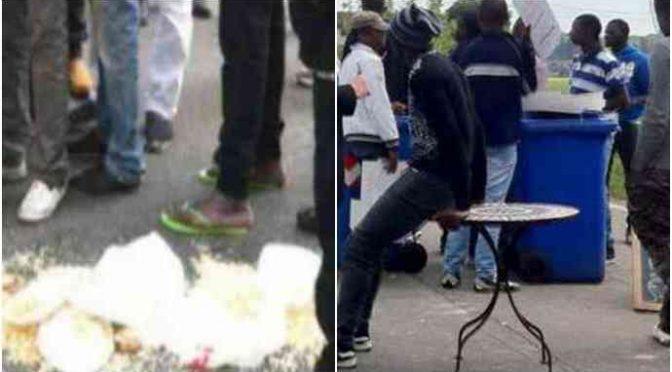 """Profughi bloccano Appia con tavoli, lancio di cibo in strada: """"Ci fa schifo"""""""