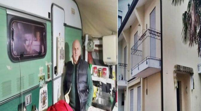 Padova, Italiano vive da 2 anni in roulotte davanti a condominio dei Profughi – FOTO