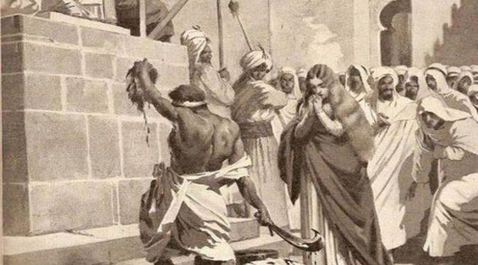 Oggi, Maria e Flora vennero decapitate perché rifiutarono conversione all'Islam († 854)