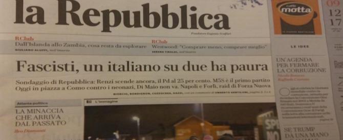 Fake news di Repubblica: si inventano sondaggio sul Fascismo