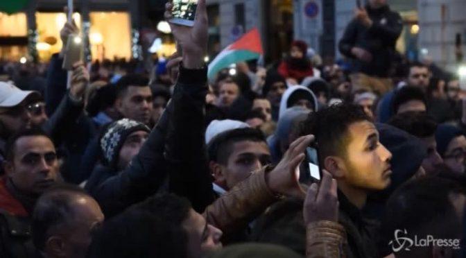 Estremisti islamici e rossi marciano in tutta Italia contro Israele al grido Allahu Akbar – VIDEO