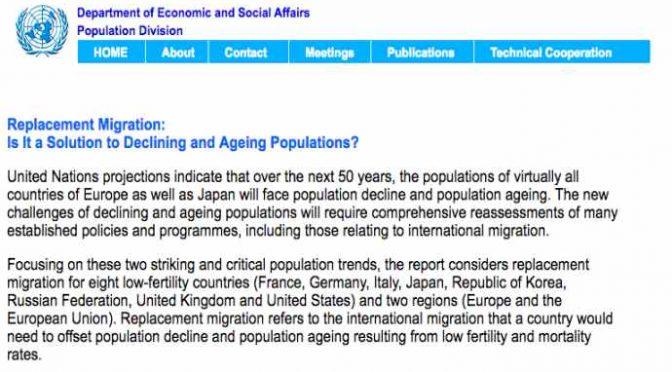 Onu vuole sostituirci: il piano anti-italiano che ha ispirato il Global Compact