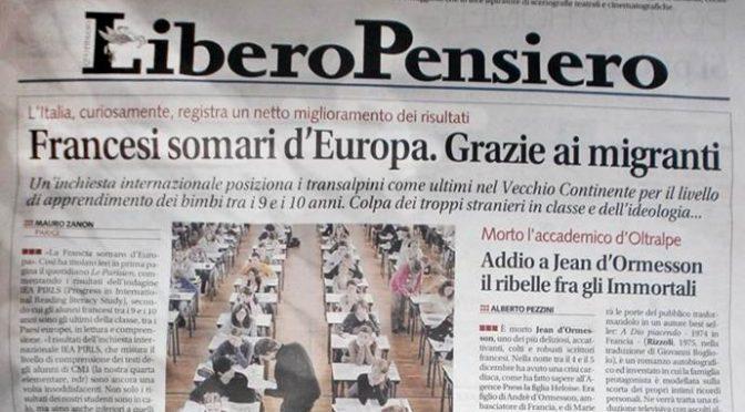 Troppi immigrati in classe, 'francesi' somari d'Europa