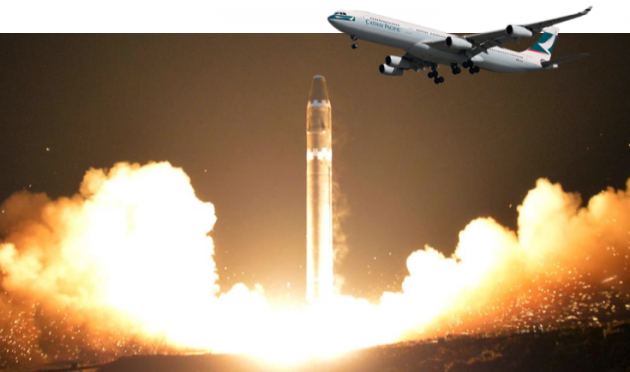 Missile nordcoreano 'sfiora' aereo passeggeri