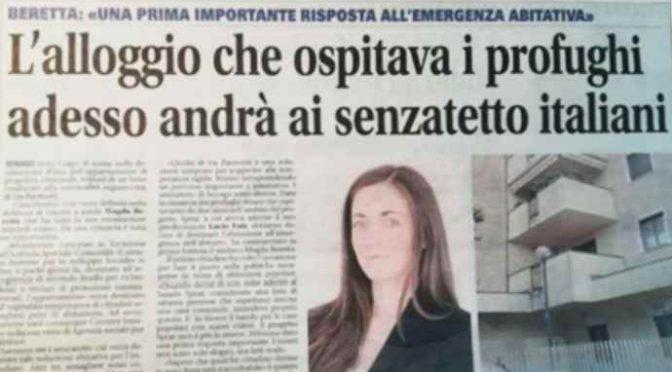 Sindaco Lega dà la casa dei profughi a senzatetto italiani!
