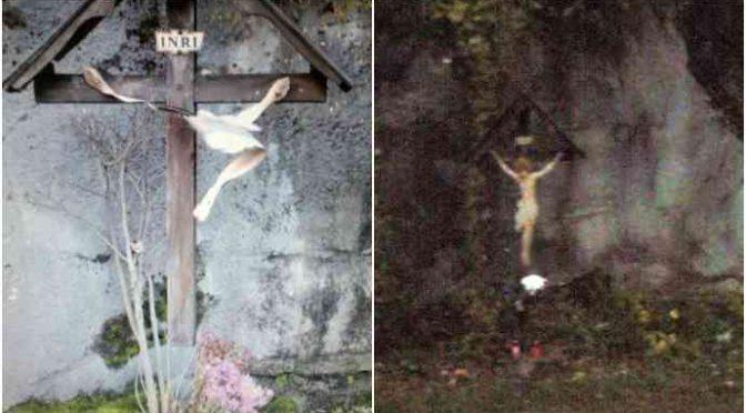 Udine: 'ignoti' distruggono Crocifisso a sassate – FOTO