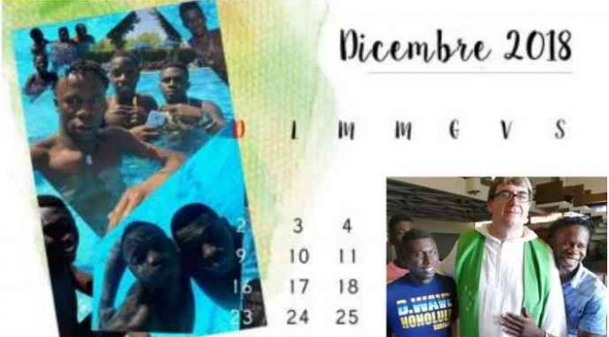 Calendario coi profughi seminudi, l'ultima idea di Don Biancalani