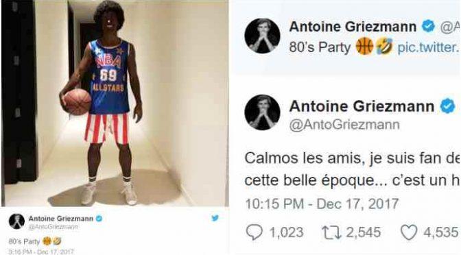 Griezmann 'razzista' perché si traveste da harlem globetrotter