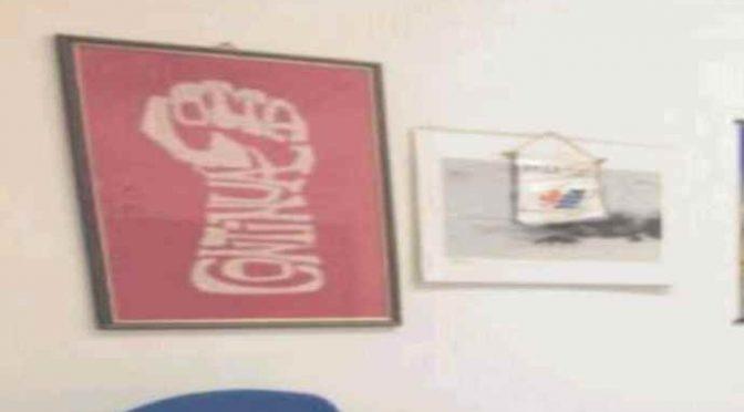 Nella questura di Pisa manifesto dei teppisti rossi di  'Lotta continua'