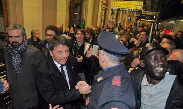Contesta Renzi alla stazione:  72 enne italiano espulso, foglio di via