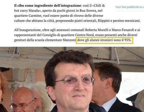 Brescia, PD festeggia la sostituzione etnica