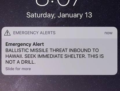 «Missile in arrivo», Panico alle Hawaii per messaggio errato