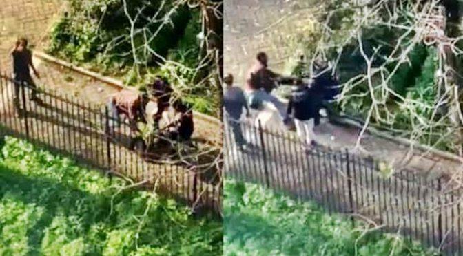 Brutale aggressione a Roma, pestato da immigrati invoca aiuto: residenti riprendono – VIDEO