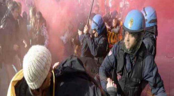 Banchetto Casapound assaltato da teppisti rossi, caos a Monza