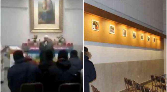 Immigrati al posto della Via Crucis e Imam sull'altare della chiesa
