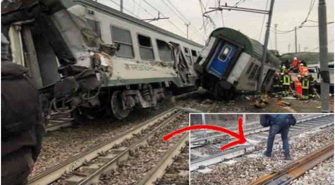 Treni, altra strage sfiorata: 'Qualcuno' abbandona frigorifero sui binari – VIDEO