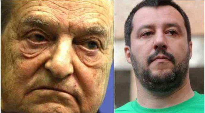 "Ong Soros: ""Fermiamo Salvini, votate Csx e M5s"""