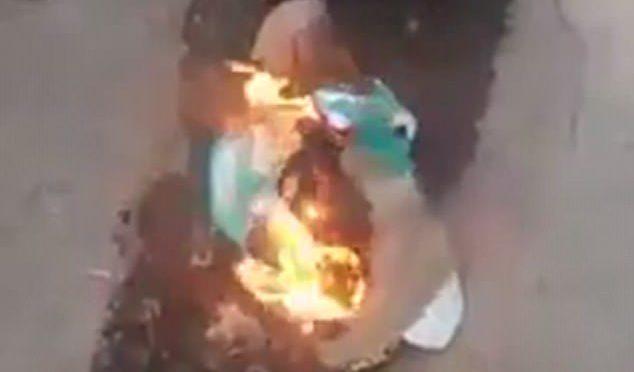 Islamici bruciano Pampers perché disegni ricordano scritta Maometto – VIDEO