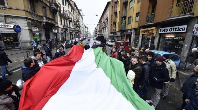 Meloni si riprende il quartiere afroislamico di Milano, teppisti rossi provocano