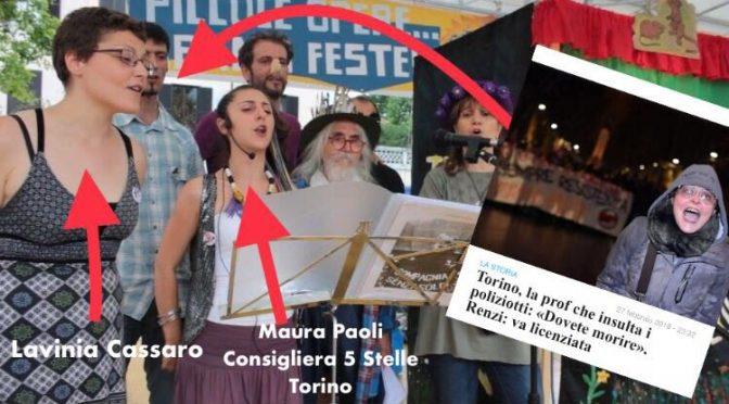 La prof antifà che odia i politiziotti con la consigliera a cinquestelle – FOTO
