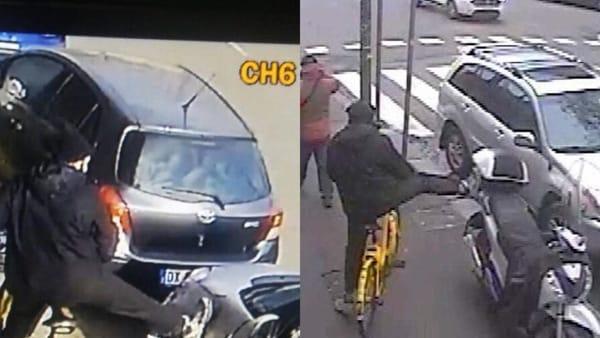Migrante vandalizza 100 auto, solo denunciato