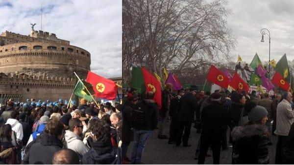 Devono manifestare i Curdi, bus deviati a Roma