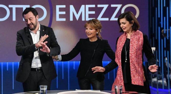 """Otto e Mezzo, Salvini affonda Boldrini: """"Ecco di cosa mi occupo"""""""