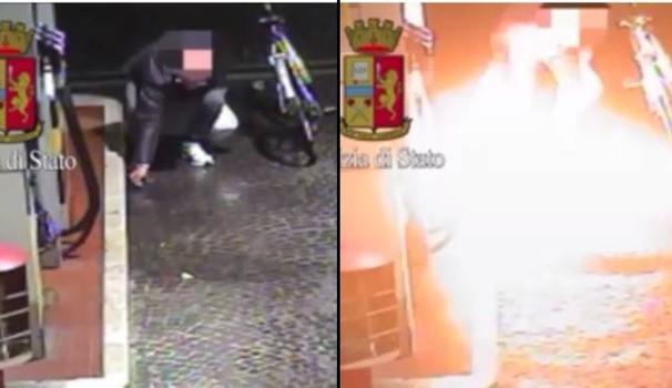 Sinistrato lancia molotov contro Casapound, era ai domiciliari – VIDEO
