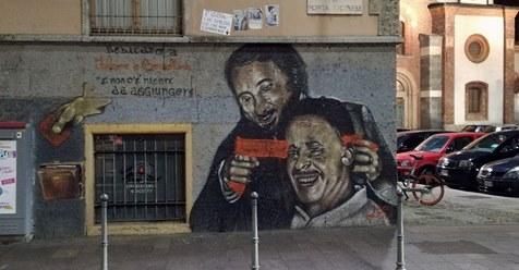 Centri sociali imbrattano murales Falcone e Borsellino