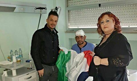 Migrante gli ha spaccato la testa, autorità lo abbandonano