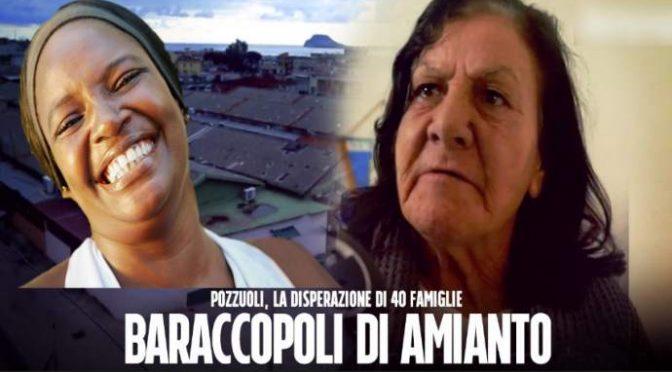 Pozzuoli, 40 famiglie italiane in baraccopoli: profughi in villa accanto – VIDEO