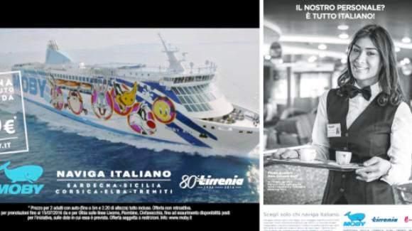 """""""Sui nostri traghetti solo personale italiano"""": radical chic contro Moby e Tirrenia"""