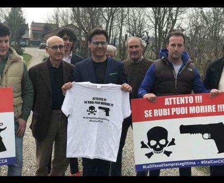 Spara e ferisce ladro albanese: presidio di solidarietà Lega
