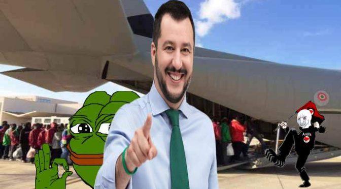 """Salvini: """"Userò soldi accoglienza per espellere 600mila clandestini"""""""