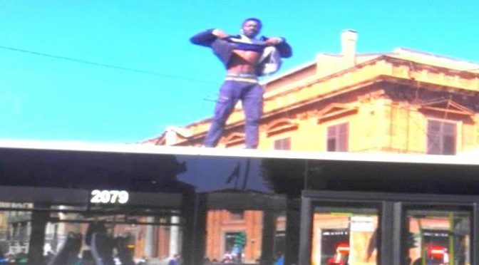 Profugo distrugge bus a badilate perché autista non lo porta a casa