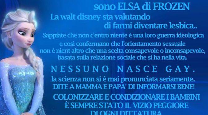 Povia difende Elsa di Frozen dalle avances LGBT, scatta linciaggio