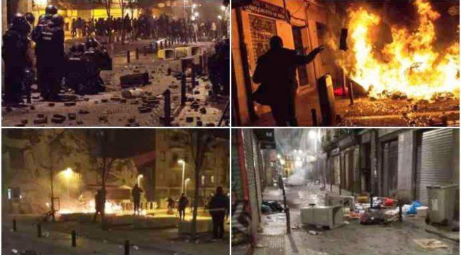 Sobborgo Madrid devastato da Africani – VIDEO – FOTO