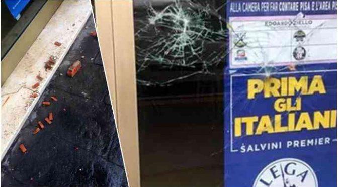 Pisa, attacco antifà a sede Lega nella notte