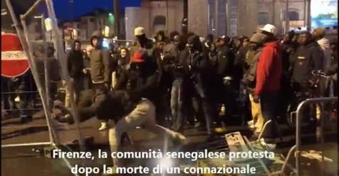 Firenze, sindaca PD si piega a violenza senegalese: lutto cittadino per morte ambulante