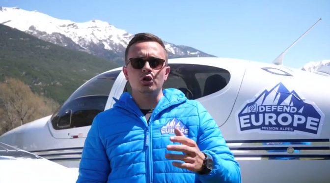 Pattugliamento patrioti anti-clandestini sulle alpi: arriva aereo – VIDEO