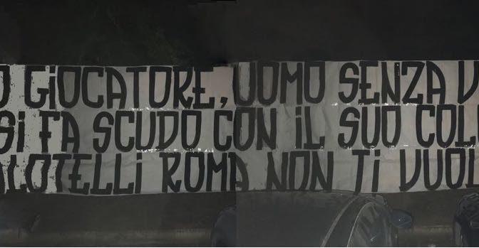 Roma, tifosi contro possibile arrivo Balotelli