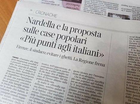 Firenze, PD si piega alla Lega: case prima agli Italiani