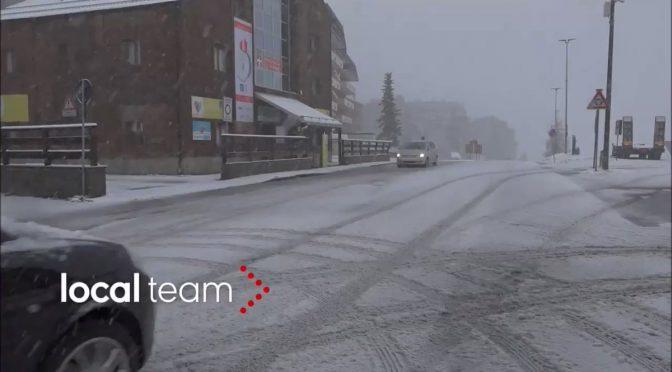 Ciclone islandese sull'Italia: neve a Sestriere – VIDEO