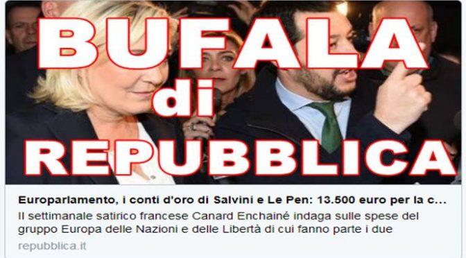 """La bufala di Repubblica sulle """"cene d'oro di Salvini e Le Pen"""": tutto falso"""