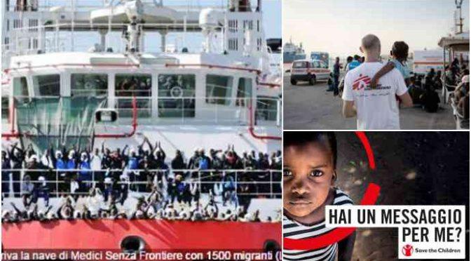 """Bufera su Save the Children e Medici Senza Frontiere: """"stupravano bambini"""""""