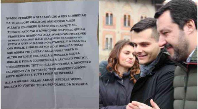 """Si oppone a moschea, minacce islamiche contro deputato Lega: """"Vi tagliamo la testa, colpiremo a Pisa"""""""