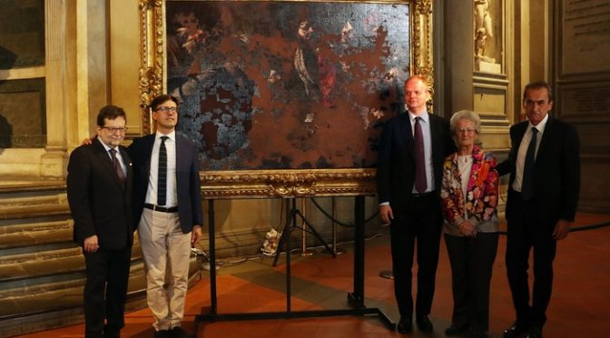 Uffizi, Stragi '93: restaurata tela devastata